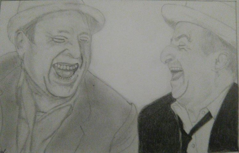 Louis de Funès, Bourvil by ChrysOff